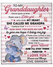 "Granddaugter God Sent U Into My Life 2Give Me Hope Fleece Blanket - 50"" x 60"" front"