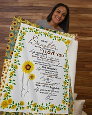 """To My Daughter Just Do Your Best Sherpa Fleece Blanket - 50"""" x 60"""" aos-sherpa-fleece-blanket-50x60-lifestyle-front-09b"""