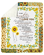 """To My Daughter Just Do Your Best Sherpa Fleece Blanket - 50"""" x 60"""" front"""