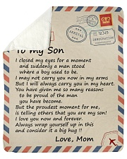"""I closed my eyes for a moment air mail Mom to Son Sherpa Fleece Blanket - 50"""" x 60"""" thumbnail"""