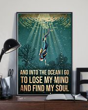 To The Ocean I Go To Lose My Mind Scuba Diving 11x17 Poster lifestyle-poster-2