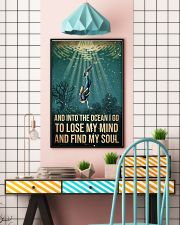 To The Ocean I Go To Lose My Mind Scuba Diving 11x17 Poster lifestyle-poster-6