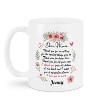Personalized Thank You For Everything To Mom Mug back
