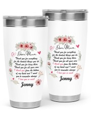 Personalized Thank You For Everything To Mom 30oz Tumbler tile