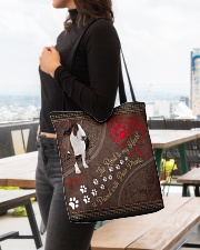 Bull-Terrier-dog-the-road-to-my-heart All-over Tote aos-all-over-tote-lifestyle-front-04