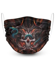 Skull 3d 2 Layer Face Mask - Single front