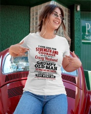Asked God Strength Courage Sent MyHusband-For Wife Ladies T-Shirt apparel-ladies-t-shirt-lifestyle-01
