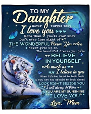 """Never Forget That I Love U Tiger Mom To Daughter Fleece Blanket - 50"""" x 60"""" front"""