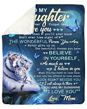 """Never Forget That I Love U Tiger Mom To Daughter Sherpa Fleece Blanket - 50"""" x 60"""" thumbnail"""