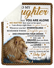 "Never Feel That U Are Alone Lion Dad To Daughter Sherpa Fleece Blanket - 50"" x 60"" thumbnail"