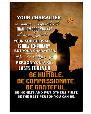 Your Character Is More Important Baseball Vertical Poster tile