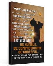 Your Character Is More Important Baseball 16x24 Gallery Wrapped Canvas Prints front