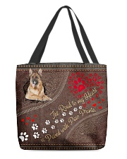 German-Shepherd-dog-the-road-to-my-heart All-over Tote front