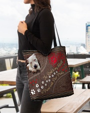 Dogo-Argentino-dog-the-road-to-my-heart All-over Tote aos-all-over-tote-lifestyle-front-04