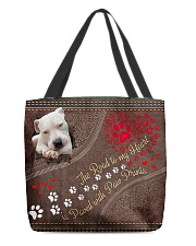 Dogo-Argentino-dog-the-road-to-my-heart All-over Tote back