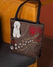 Bichon-Frise-dog-the-road-to-my-heart All-over Tote aos-all-over-tote-lifestyle-front-02