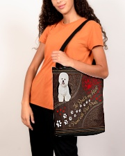 Bichon-Frise-dog-the-road-to-my-heart All-over Tote aos-all-over-tote-lifestyle-front-07