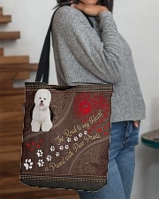 Bichon-Frise-dog-the-road-to-my-heart All-over Tote aos-all-over-tote-lifestyle-front-09