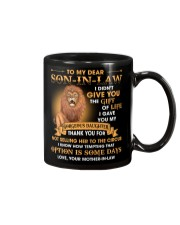 Gift for son-in-law lion I gave you my daughter Mug front