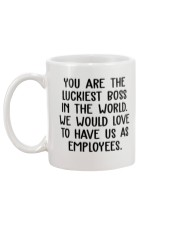 You are the luckiest boss in the world funny Mug back