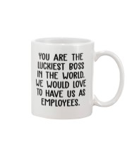 You are the luckiest boss in the world funny Mug front