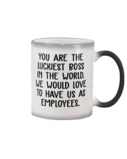 You are the luckiest boss in the world funny Color Changing Mug thumbnail