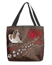 English-Springer-Spaniel-dog-the-road-to-my-heart All-over Tote back