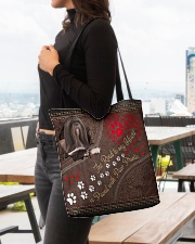 Lhasa-Apso-dog-the-road-to-my-heart All-over Tote aos-all-over-tote-lifestyle-front-04