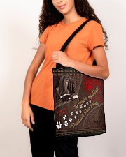 Lhasa-Apso-dog-the-road-to-my-heart All-over Tote aos-all-over-tote-lifestyle-front-07