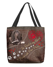 Lhasa-Apso-dog-the-road-to-my-heart All-over Tote front