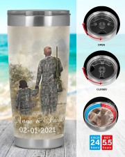 Personalized Father Daughter Hunting Buddies 20oz Tumbler aos-20oz-tumbler-lifestyle-front-44