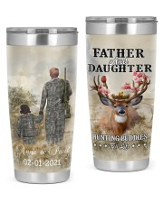 Personalized Father Daughter Hunting Buddies 20oz Tumbler front