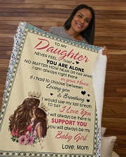 """To My Daughter You Will Always Be My Baby Girl Sherpa Fleece Blanket - 50"""" x 60"""" aos-sherpa-fleece-blanket-50x60-lifestyle-front-09b"""