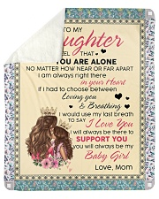"""To My Daughter You Will Always Be My Baby Girl Sherpa Fleece Blanket - 50"""" x 60"""" front"""