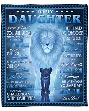 """Never Feel That U Are Alone Lion Dad To Daughter Fleece Blanket - 50"""" x 60"""" front"""