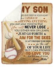 Personalized I Want U Believe Baseball Dad To Son Sherpa Fleece Blanket tile