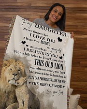"""Daughter This old lion will always have your back  Sherpa Fleece Blanket - 50"""" x 60"""" aos-sherpa-fleece-blanket-50x60-lifestyle-front-09b"""