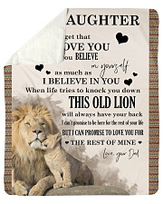 """Daughter This old lion will always have your back  Sherpa Fleece Blanket - 50"""" x 60"""" front"""