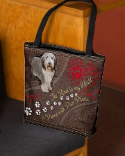 Beared-Collie-dog-the-road-to-my-heart All-over Tote aos-all-over-tote-lifestyle-front-02