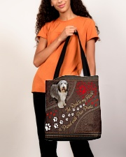 Beared-Collie-dog-the-road-to-my-heart All-over Tote aos-all-over-tote-lifestyle-front-06