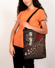 Beared-Collie-dog-the-road-to-my-heart All-over Tote aos-all-over-tote-lifestyle-front-07