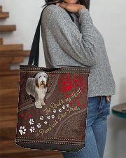 Beared-Collie-dog-the-road-to-my-heart All-over Tote aos-all-over-tote-lifestyle-front-09