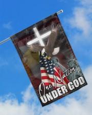 "One Nation Under God 11.5""x17.5"" Garden Flag aos-garden-flag-11-5-x-17-5-lifestyle-front-16"