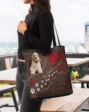 American-Cocker-Spaniel-dog-the-road-to-my-heart All-over Tote aos-all-over-tote-lifestyle-front-04