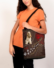 American-Cocker-Spaniel-dog-the-road-to-my-heart All-over Tote aos-all-over-tote-lifestyle-front-07