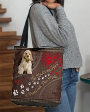 American-Cocker-Spaniel-dog-the-road-to-my-heart All-over Tote aos-all-over-tote-lifestyle-front-09