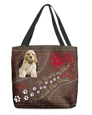American-Cocker-Spaniel-dog-the-road-to-my-heart All-over Tote back