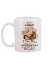 Personalized Name Love U In The Morning To Husband Mug back