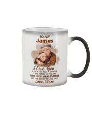 Personalized Name Love U In The Morning To Husband Color Changing Mug tile