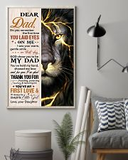 Dad Lion Thanks For Providing And Nurturing Me 11x17 Poster lifestyle-poster-1
